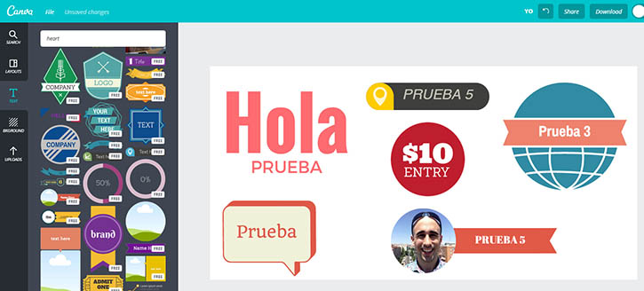 TUTORIAL de canva textos
